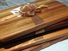 These custom engraved cutting boards were done for our realtor customers. They will give it as gifts for after the escrow closes or when their clients received their keys to their new home. Great idea!