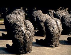 BACKWARD SEATED FIGURES by Magdalena Abakanowicz