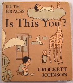 """A precursor to Dr. Seuss and Roy McKie's My Book About Me (1969), Is This You? asks the child a series of questions (""""Is this your family?"""", """"Is this where you live?"""", """"Is this where you go to school?"""" and so on), and invites him or her to compile a book, a page at a time, in response to each query. Each question accompanies amusingly absurd illustrations."""