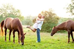 Engagement Shoot with Horses || PHOTO SOURCE • CUSTOM BY NICOLE PHOTOGRAPHY