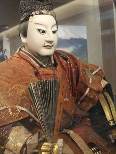 General Toyotomi Hideyoshi Edo Period 1770 CE Japan  terracotta head and hands brocade fabric lacquer and metal armor (1) by mharrsch, via Flickr