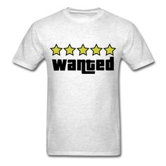 Remember feeling badass when you got the 5 star wanted level on GTA? then this is the design for you! available in all sizes and lots of colors!