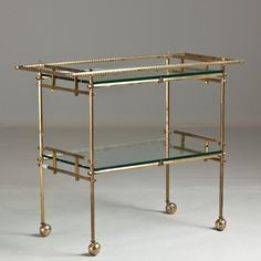 Image result for brass drinks trolley