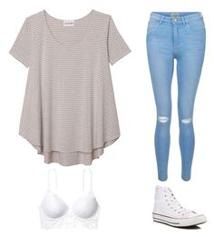 """""""Untitled #1"""" by toriaeve-1 ❤ liked on Polyvore featuring Olive + Oak, New Look and Converse"""