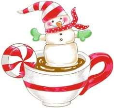 Marshmallow Snowman-In Hot Chocolate by Ronnie Rooney | Ruth Levison Design
