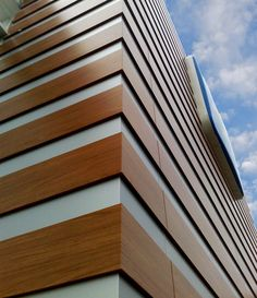 ALUCOIL is a Worldwide Manufacturer specialist in production of composite panels for Architecture, Transport & Industry under brands larson ® and larcore ®. Facade Design, Skyscraper, Multi Story Building, Europe, Exterior, Facades, Architecture, Spin, Design Inspiration