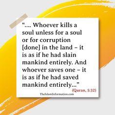 Quran about killings is the biggest sin in Islam. #Islam #Quran #Hadith #Allah #Muhammad Islamic Information, Islam Quran, Hadith, Muhammad, Allah, God, Allah Islam