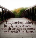 bridges to cross and bridges to burn