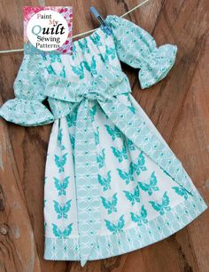"""INSTANT DOWNLOAD Peasant Dress Girls Sewing Pattern PDF  Pillow Case Dress  Pattern  sizes 6m through to 10 years """"Aria Peasant Dress"""". $4.50, via Etsy."""