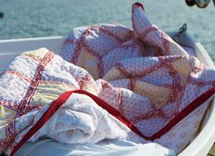 Handcrafted Quilts - Red Quilts - Hand Block Printed from Attiser