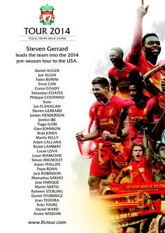 Liverpool take full-strength squad on USA tour I can't wait to see them in Chicago! Liverpool Fc Tour, Liverpool Football Club, Premier League Soccer, This Is Anfield, Brendan Rodgers, Toronto Fc, Steven Gerrard, Alex Gerrard, Philippe Coutinho