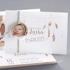 Unsere Babykarte Plumetti - verschickt Liebe und schöne Geburtskarten