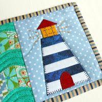 The Patchsmith: Lighthouse Mug Rug