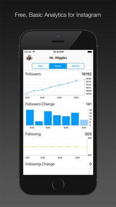 Analytics for Instagram es una aplicación para Apple que permite conocer gratutiamente las estadísticas básicas de una cuenta de la red social de fotos editadas.
