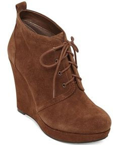 Jessica Simpson Catcher Wedge Booties - Shoes - Macy's