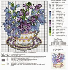 July Delphinium ¤ flowers in cup