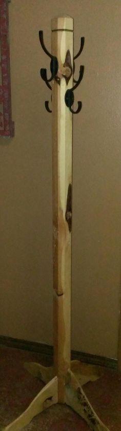 Items similar to stand up coat rack custom and rustic juniper coat rack hall tree on Etsy Diy Coat Rack, Rustic Coat Rack, Coat Racks, Coat Hanger, Rustic Wood Crafts, Diy Wood, Halle, Wood Box Decor, Cherry Wood Floors