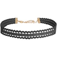 Humble Chic NY Scalloped Lace Choker (190 DKK) ❤ liked on Polyvore featuring jewelry, necklaces, accessories, choker, black crochet, statement necklaces, crochet collar necklace, choker collar necklace, lace choker necklace and statement collar necklace