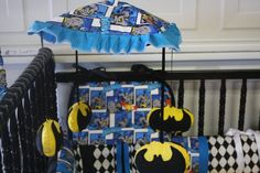 Batman crib mobile musical by bedbugscreations on Etsy