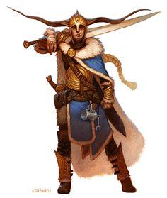 Mountain Warrior by alexstoneart