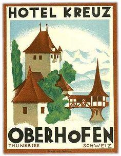 Hotel Kreuz. Oberhofen. Thunersee. Schweiz.