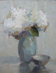 Hydrangeas in Vintage Vase