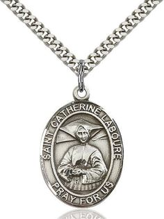 """St. Catherine Laboure Sterling Silver 1"""""""