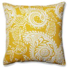 Outdoor/Indoor Addie Egg Yolk Floor Pillow - , Yellow, Pillow Perfect