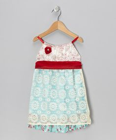 Take a look at this Red & Blue May Dress - Infant, Toddler & Girls by Moxie & Mabel on #zulily today!