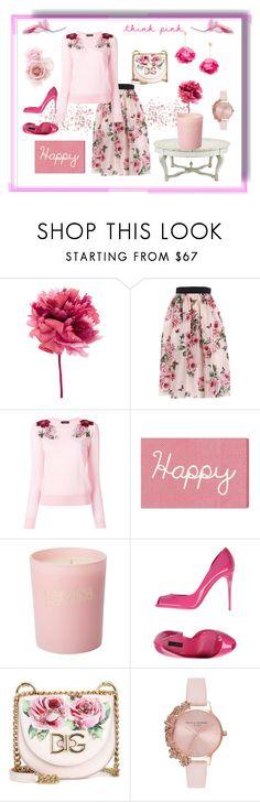 """d n g pink"" by rachel-hack-1 ❤ liked on Polyvore featuring Ann Demeulemeester, Dolce&Gabbana, Oliver Gal Artist Co., Bella Freud, Olivia Burton and Aurélie Bidermann"