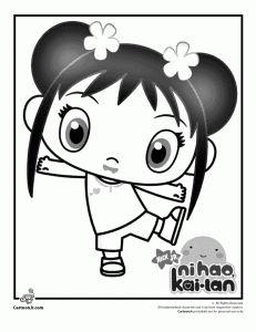 Ni Hao, Kai Lan Nickelodeon Coloring Pages
