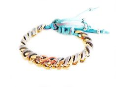 Friendship bracelet with gold chains, colorful suede ribbons and infinity charms. Coachella bracelets, Boho chic bracelets, hippie bracelets, Coachella jewelry, summer bracelets