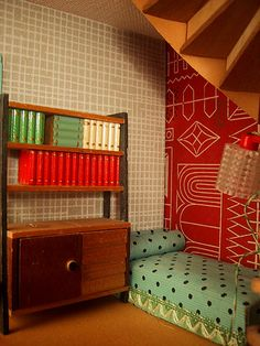 1950s Vintage Lundby dolls house reading nook | Flickr - Photo Sharing!