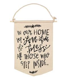 Take a look at this 'Let Love Abide' Canvas Banner on zulily today! Hanging Banner, Laundry Signs, Sewing Appliques, Chalkboard Art, Uplifting Quotes, Cricut Vinyl, Name Signs, Home Decor Furniture, Creative Inspiration