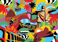 Rio de Janeiro | Lobo | Pop Art #rio #popart www.lobopopart.com