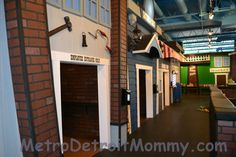 Detroit Kid City - Open Year Round - set up with many different building themed rooms for young children to explore and allows their imagination to roam in a space where dramatic play is king.  A barber shop, pizzeria, market, school house, bank and many other areas are loaded with tools of the trade that encourage children to pretend and be creative.