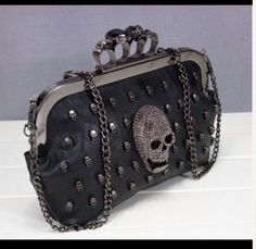 Accessory: Studded Skull Clutch. $57 at Threadflip.com
