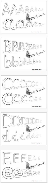 Kruschkiste: Buchstaben immer kleiner