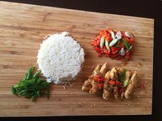 Ginger sweet soy sauce chicken with Red Pepper