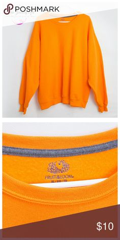 Fruit of the loom Woman Sweater Size: XL Orange sweater never used size XL. Sorry No tags. Fruit of the Loom Sweaters