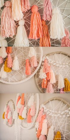 Giant Dream Catchers that we made for our event!! Maggie Holmes Be Crafty Workshop Recap