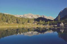 Check out Beautiful Autumn Lake Reflection by PremiumCoding on Creative Market Wooded Landscaping, Bohinj, Julian Alps, Autumn Lake, Photo Dimensions, Lake Water, Water Reflections, Free Stock Photos, Free Photos