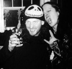 Corey Taylor & Joey Jordison, I used to feel so awesome because I had that same beanie