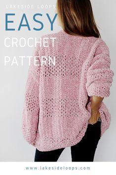 Gilet Crochet, Crochet Cardigan Pattern, Crochet Jacket, Easy Crochet Patterns, Knit Or Crochet, Crochet Shawl, Knitting Patterns, Knit Jacket, Crochet Geek