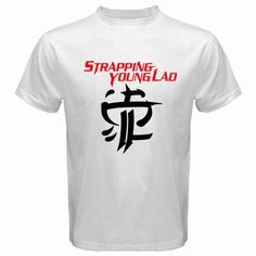 New STRAPPING YOUNG LAD Metal Rock Band Logo Men's White T-Shirt Size S to 3XL  | eBay