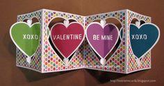 valentine accordion card