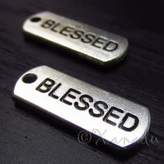 Blessed Charm Pendant Tags  10/20/50 Wholesale by XanaduBeadery