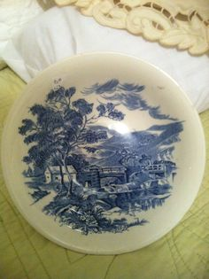 Countryside blue wedgewood. I love my set. :) Blue And White China, Love Blue, White Dishes, Blue Pottery, Pinterest Projects, China Plates, Blue Skies, Wedgwood, Keepsakes