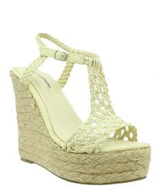 Look what I found on #zulily! Beige Patty Platform Espadrille #zulilyfinds