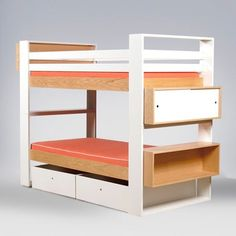 white-and-wood-bunk-beds.jpg 400×400 pixels